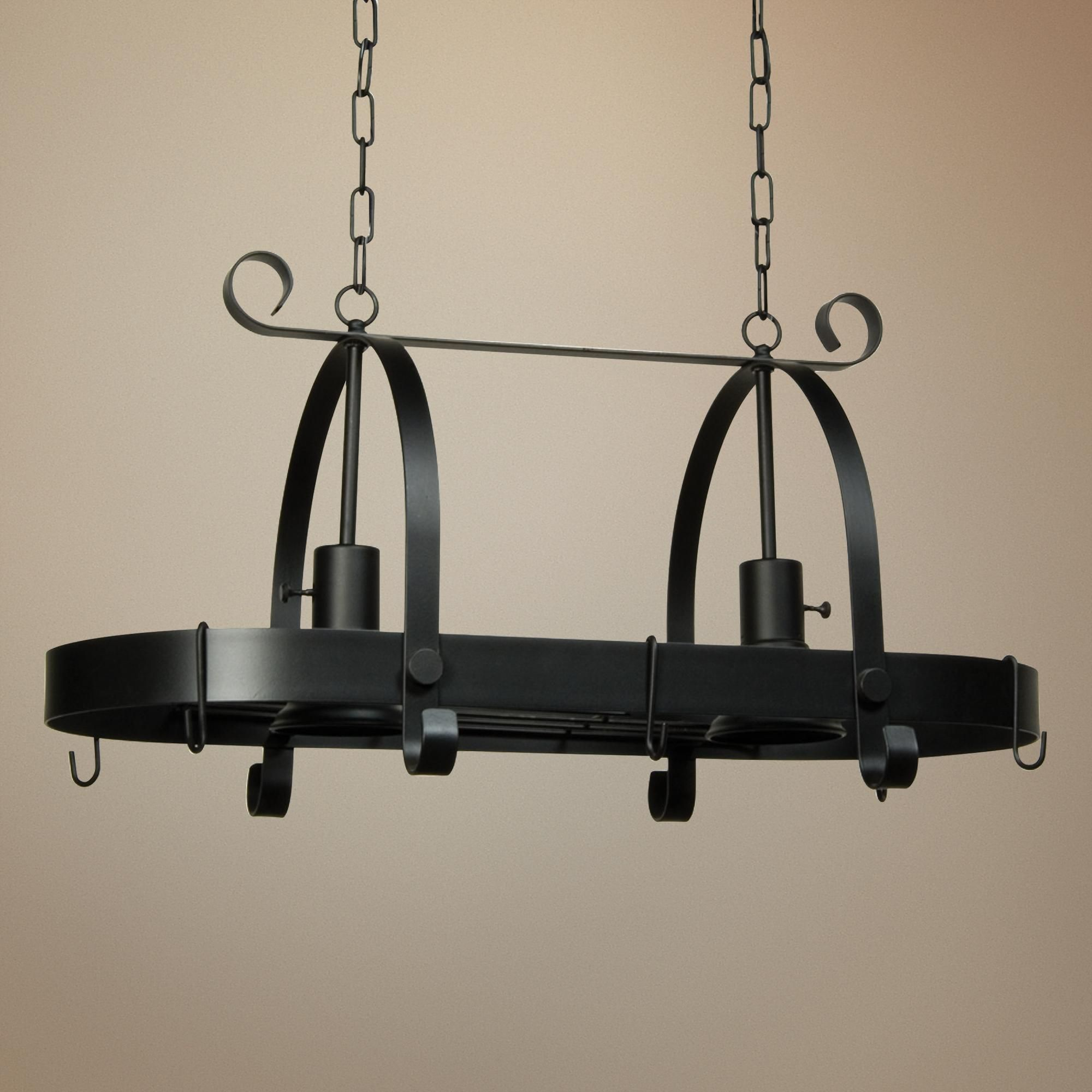 Artcraft Pot Racks 30 Wide Black Rack Chandelier