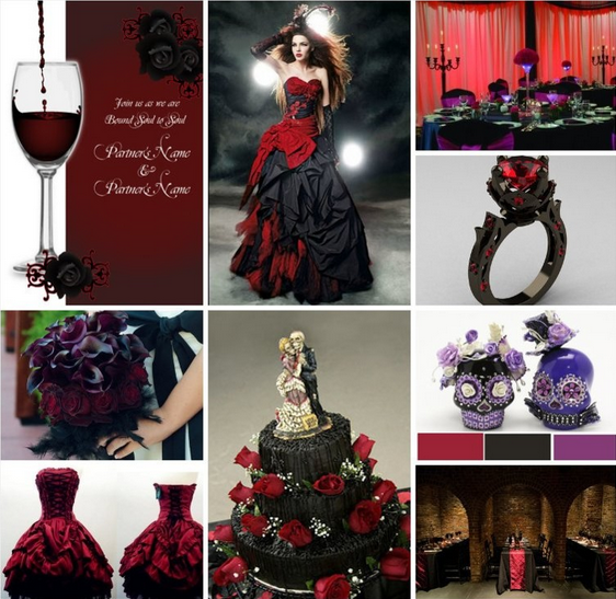 Black And Purple Wedding Ideas: #Goth #Wedding #Ideas & #Inspiration