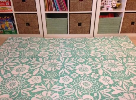 diy painted foam mats