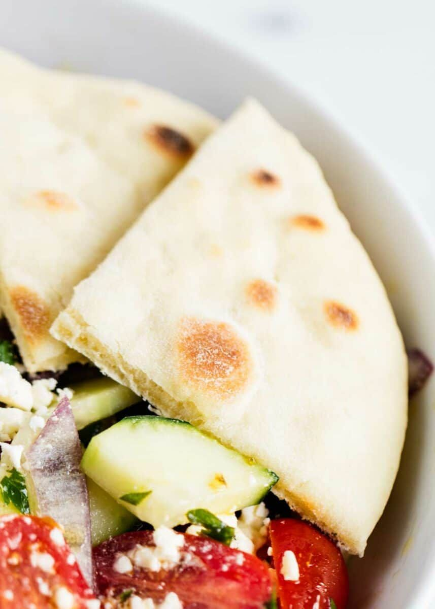 EASY Homemade Pita Bread (Oven or Stove!) - I Heart ...