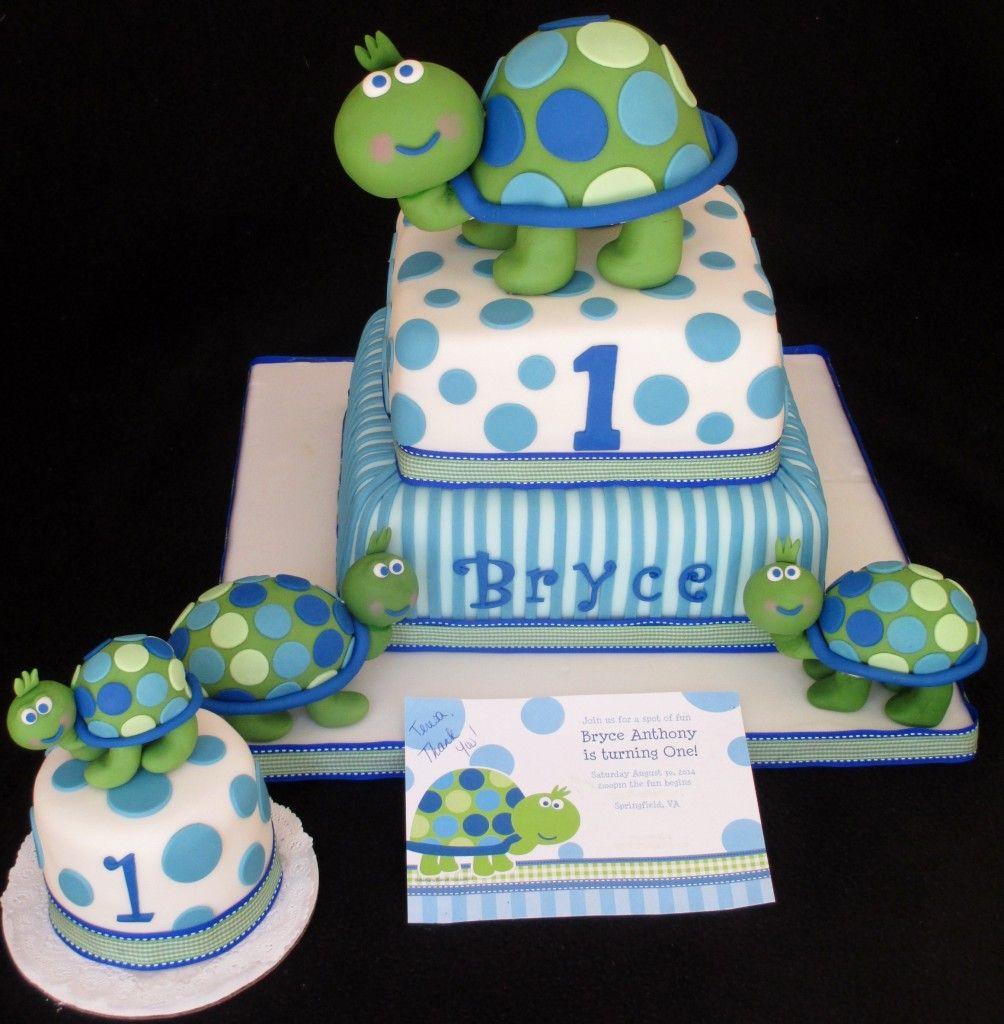 Turtle Cake First Birthday Cake Familychildrenpregnancy