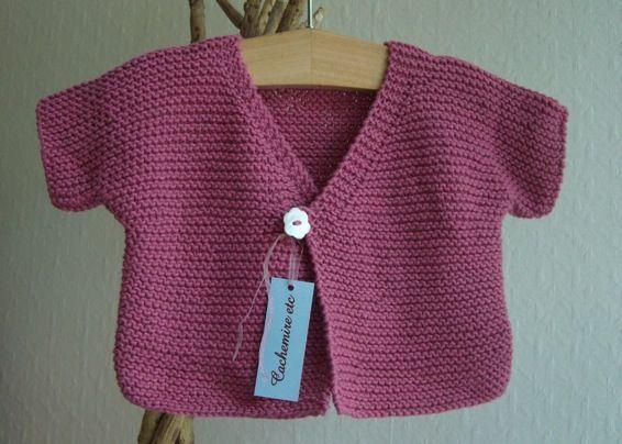 c7b9011b8bd6a Cardigan coton point mousse pour bébé - blog de Cachemire-etc ...