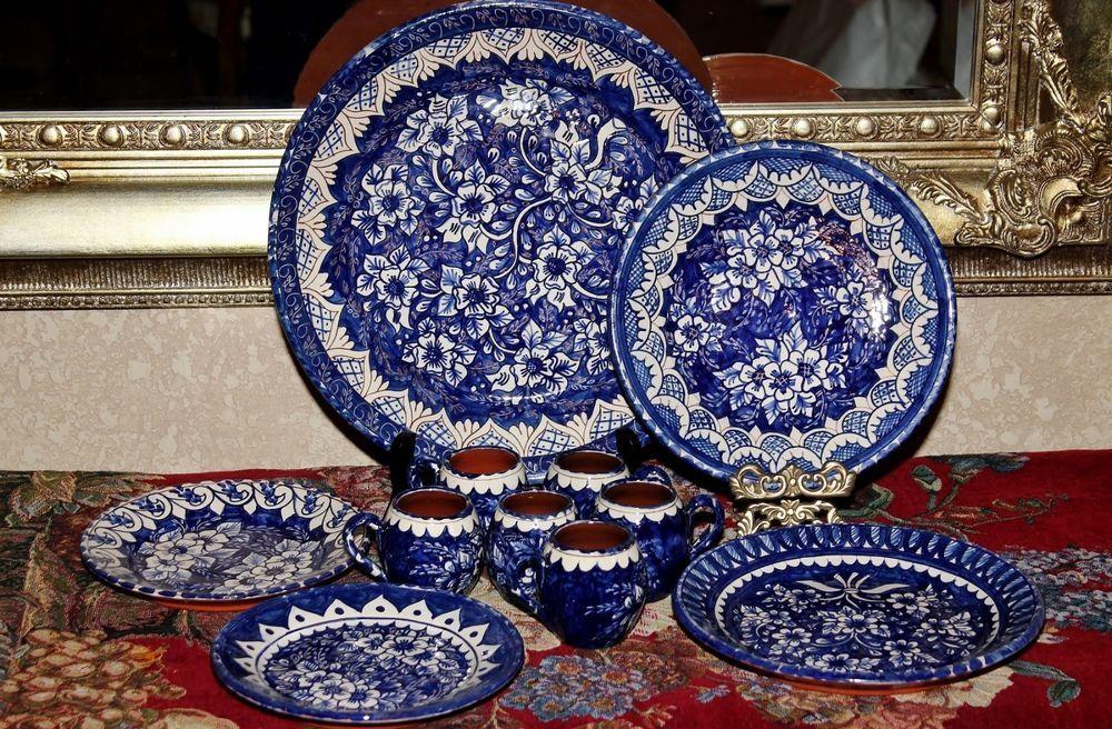 VTG PORTUGUESE POTTERY Platters Cups Plates M. BEIJINHO S. PEDRO DE & VTG PORTUGUESE POTTERY Platters Cups Plates M. BEIJINHO S. PEDRO ...