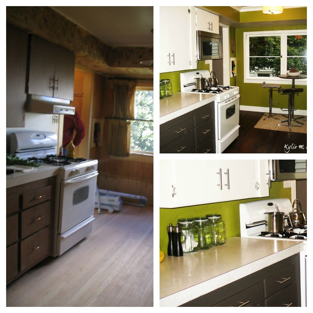 Painted Old Kitchen Cabinets Painted Wood Furniture And Cabinets Before And After