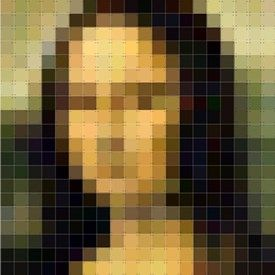 wanddecoratie muurdecoratie schilderij kunst mona lisa pixel
