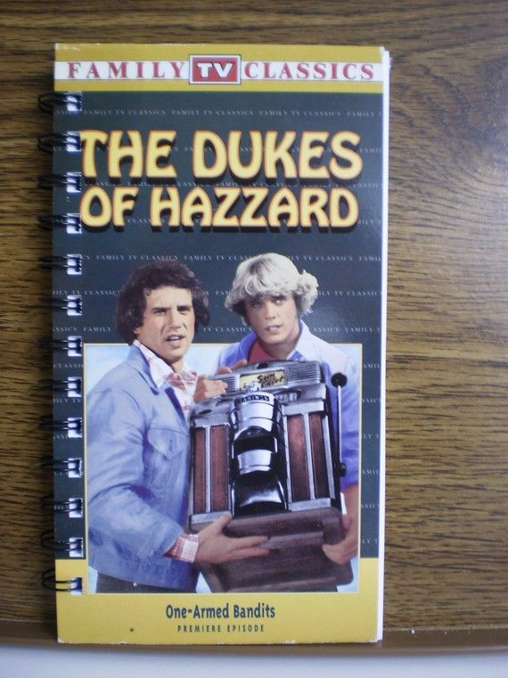 Recycled Notebook From Dukes Of Hazzard VHS Box