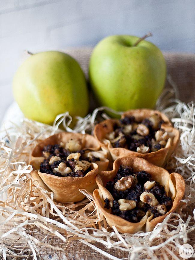 Cestas de morcilla y manzana, ¡imprescindible!