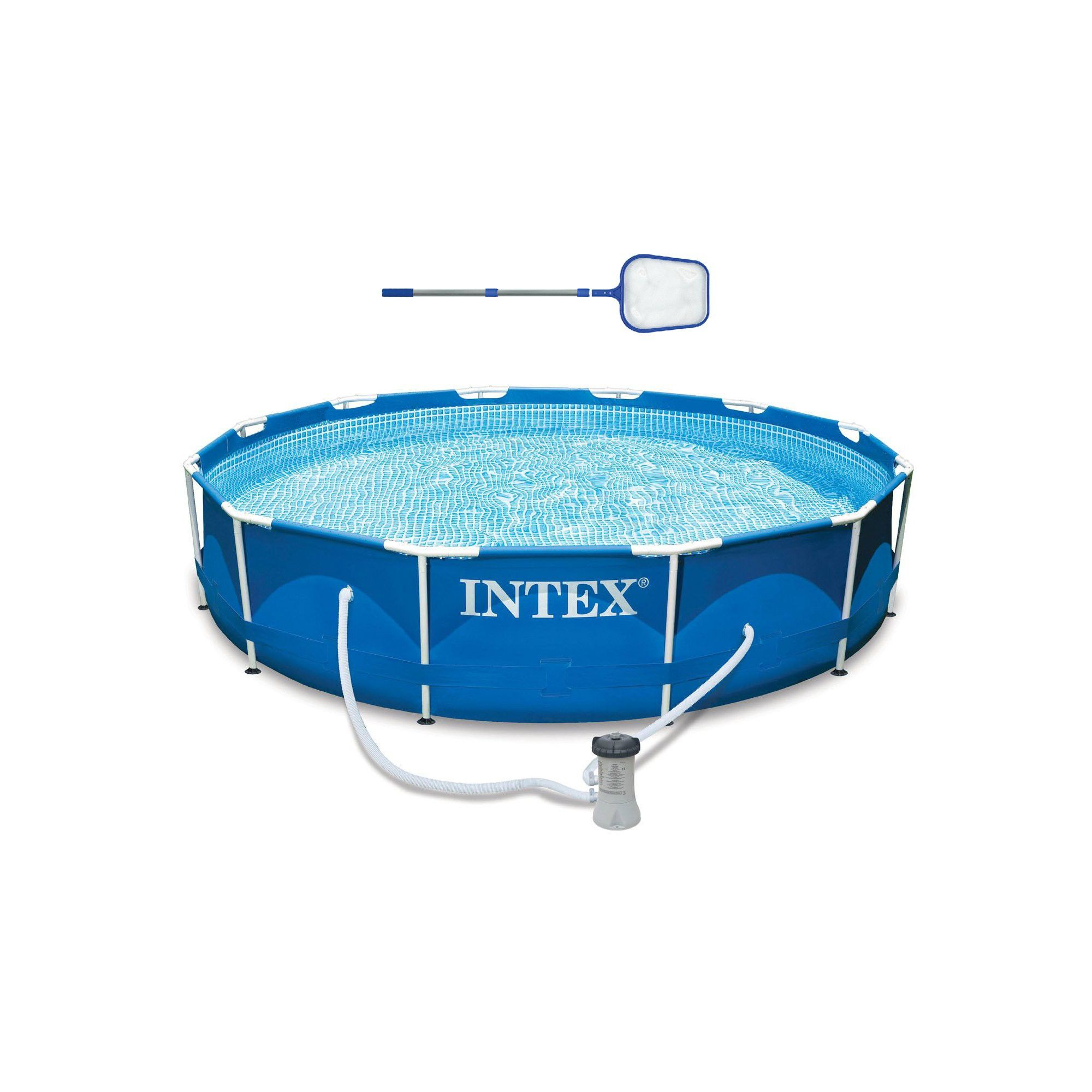 Intex 12 X 30 Metal Frame Above Ground Swimming Pool Filter Skimmer Above Ground Swimming Pools Swimming Pools Small Swimming Pools