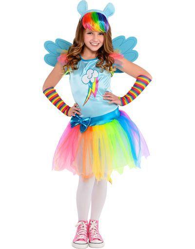 41c83322cd Girls Rainbow Dash Costume - My Little Pony - Party City   Halloween ...