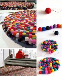 Felt Ball Mat Tutorial Praktic Ideas - Find Fun Art Projects to Do at Home and Arts and Crafts Ideas #diyundselbermachen