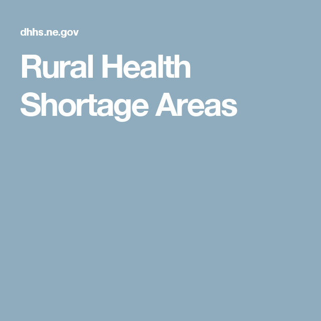 Rural Health Shortage Areas