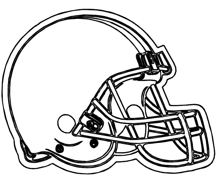 Browns Cleveland Helmet Coloring Pages Football Coloring Pages Nfl Football Helmets Football Helmets