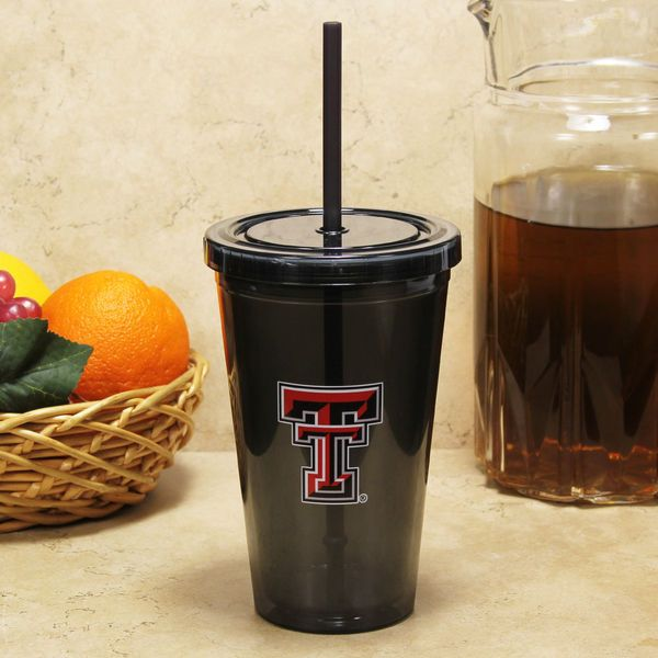 Texas Tech Red Raiders Sip 'N Go 16oz. Color Tumbler with Lid and Straw - Black - $12.99
