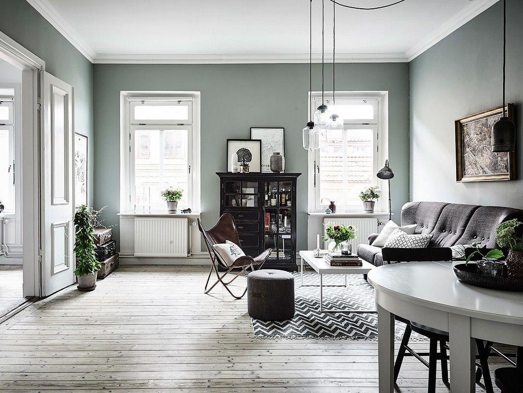 murs vert de gris salons living rooms and room. Black Bedroom Furniture Sets. Home Design Ideas