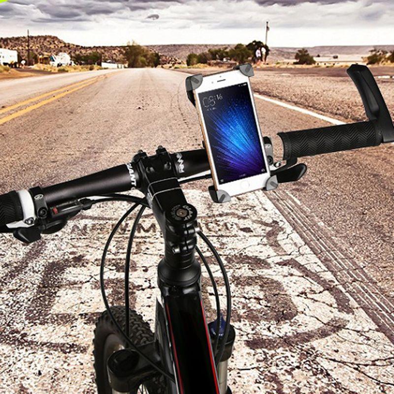 Universal Durable Motocicleta MTB Manillar de La Bicicleta GPS Sostenedor Del Montaje Del Teléfono Celular Juego Para 3.5-6.5 Pulgadas de Pantalla Bike Clip de teléfono