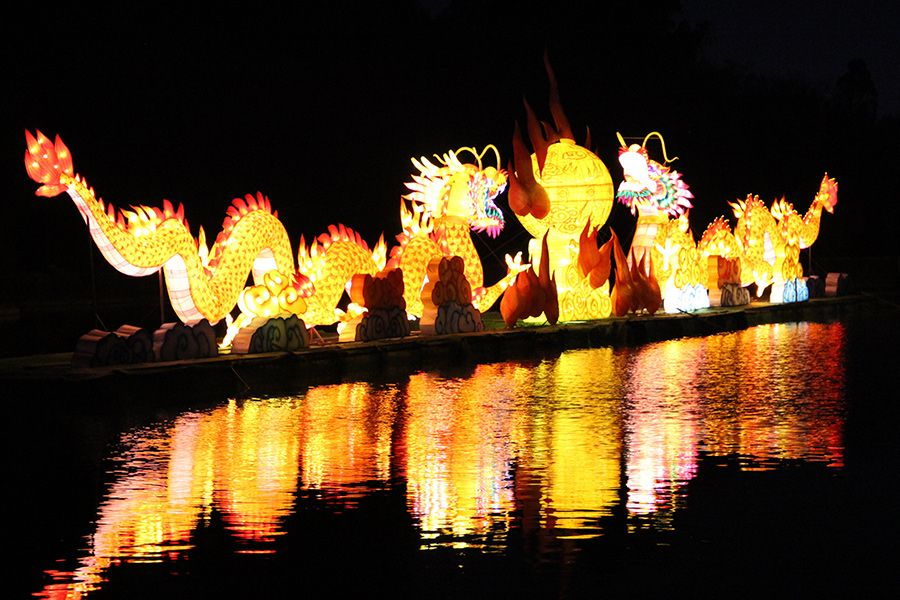 The Spring Lantern Festival Expo Park in Kunming