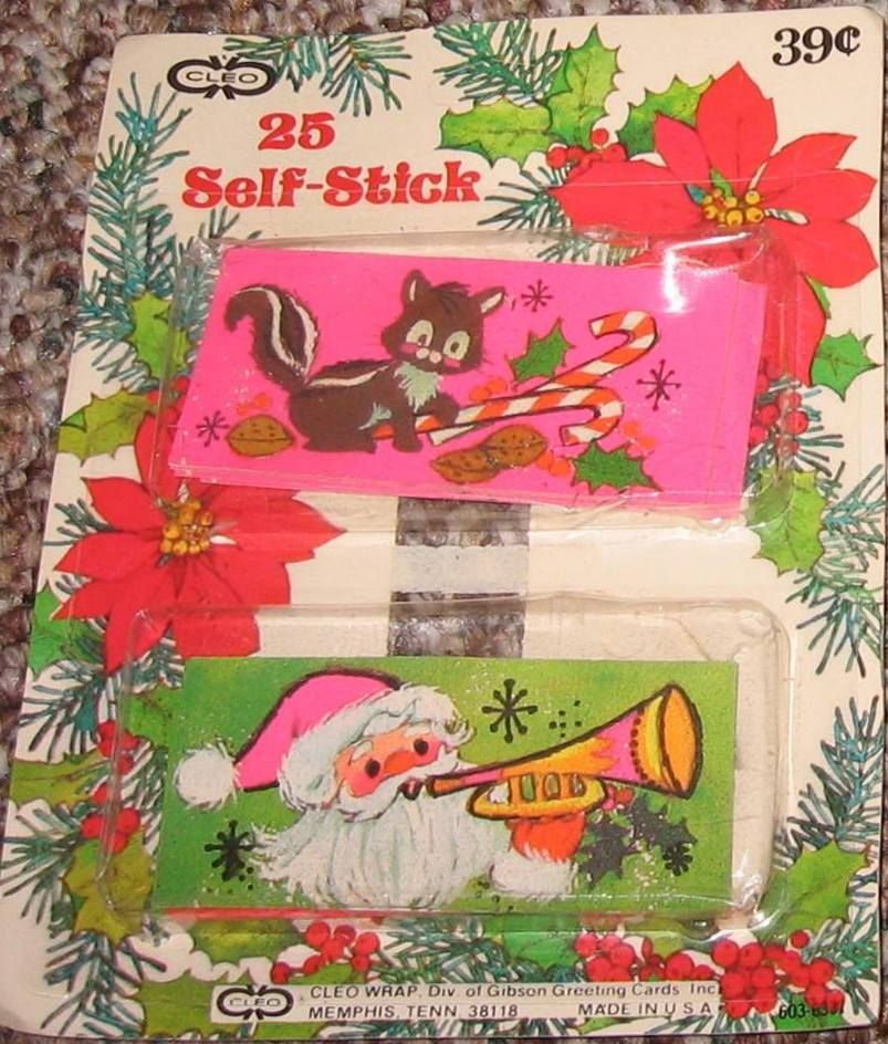 Vintage christmas stickers by cleo a division of gibson greeting vintage christmas stickers by cleo a division of gibson greeting cards inc neon pink m4hsunfo