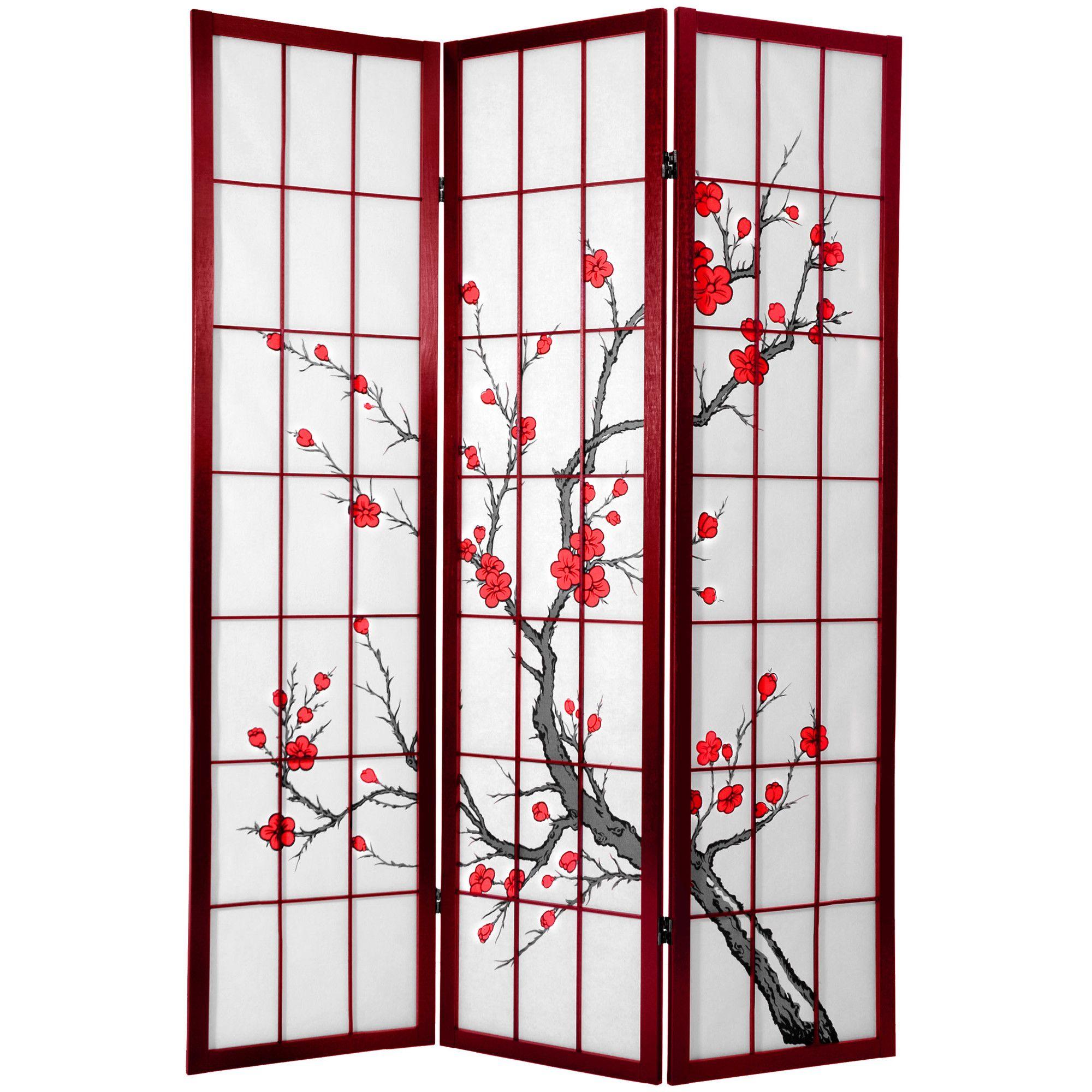 71 X 51 Tall Cherry Blossom Shoji Screen Room Divider
