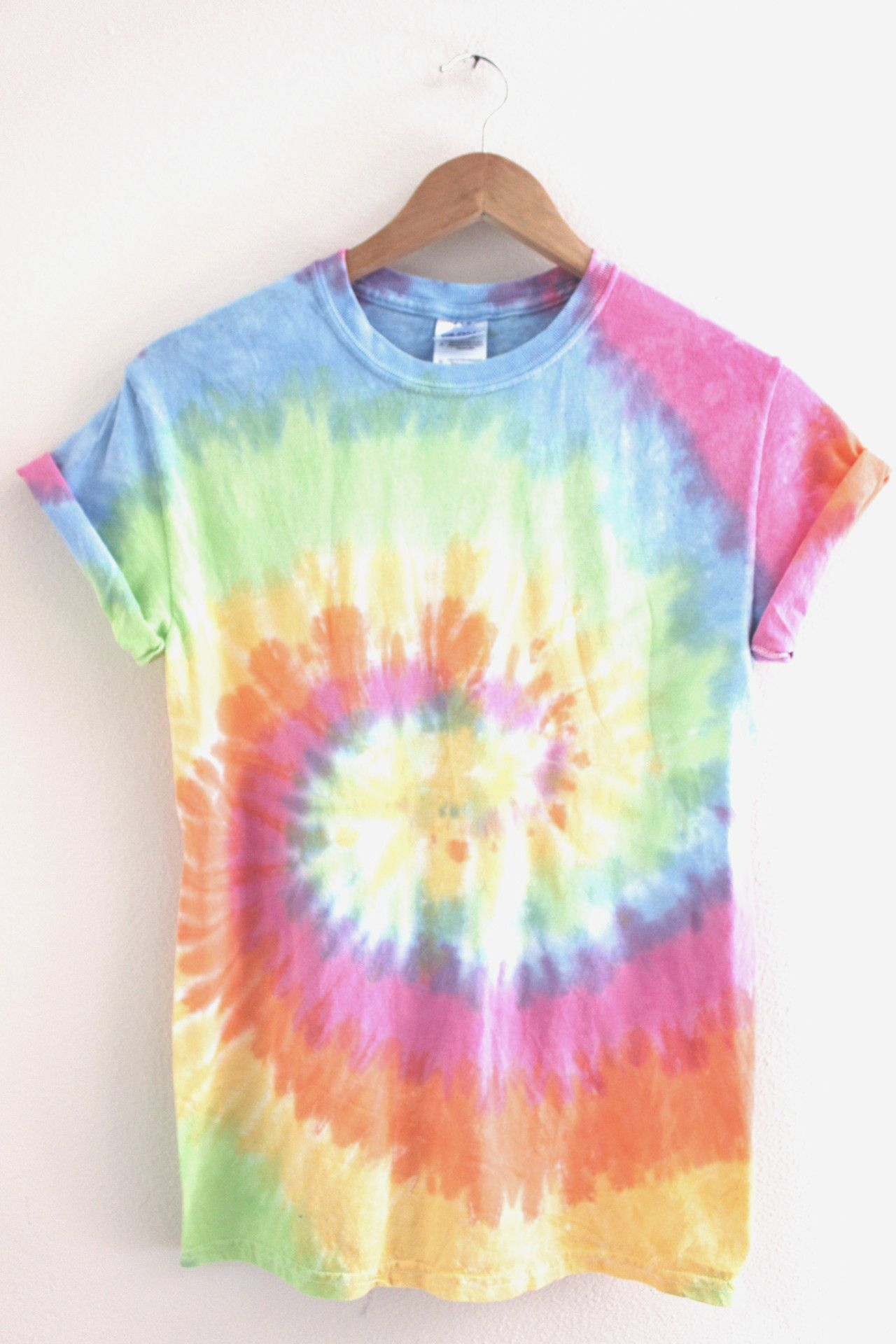 Pastel Rainbow Tie Dye Unisex Tee Pastels Rainbows And Note