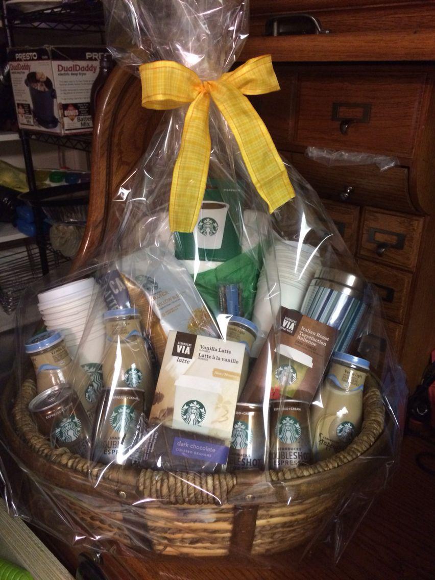 Starbucks Basket Valentine S Day Gift Baskets Christmas