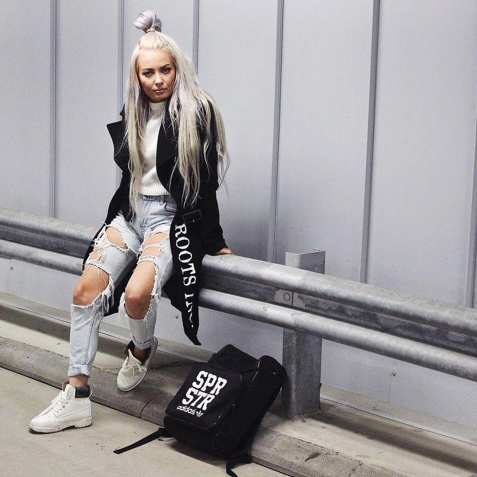 Adidas shirt design your own - Eeva K Adidas Backpack Bik Bok Trashed Jeans Roots Inc Custom