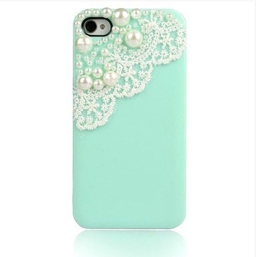 New Bling Pearl Cute Lace Deco Sweet Back Battery Case Cover for iPhone 4 4G 4S | eBay