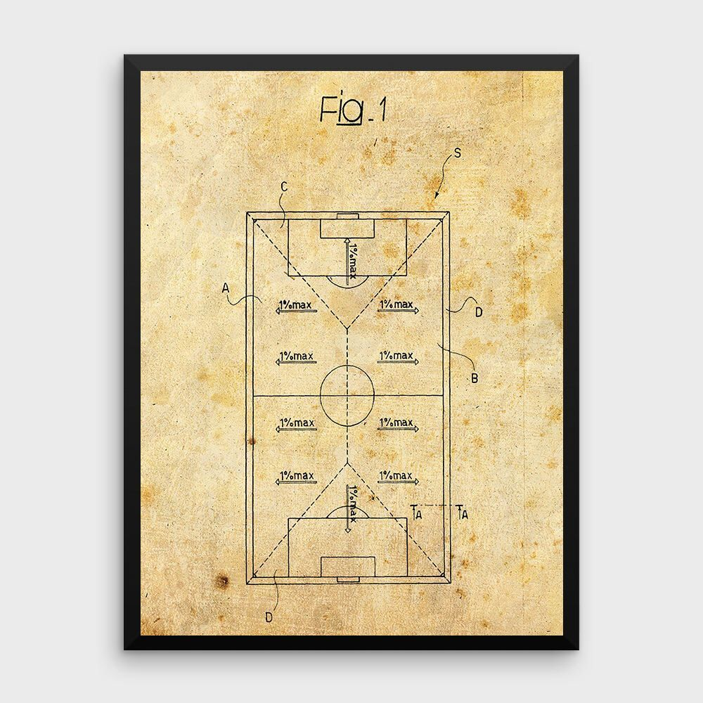 Vintage Soccer Patent Print | Football Pitch, Football Patents ...