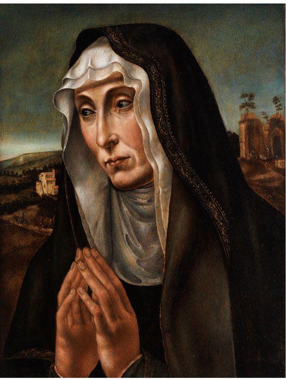 Eine trauernde Frau datiert