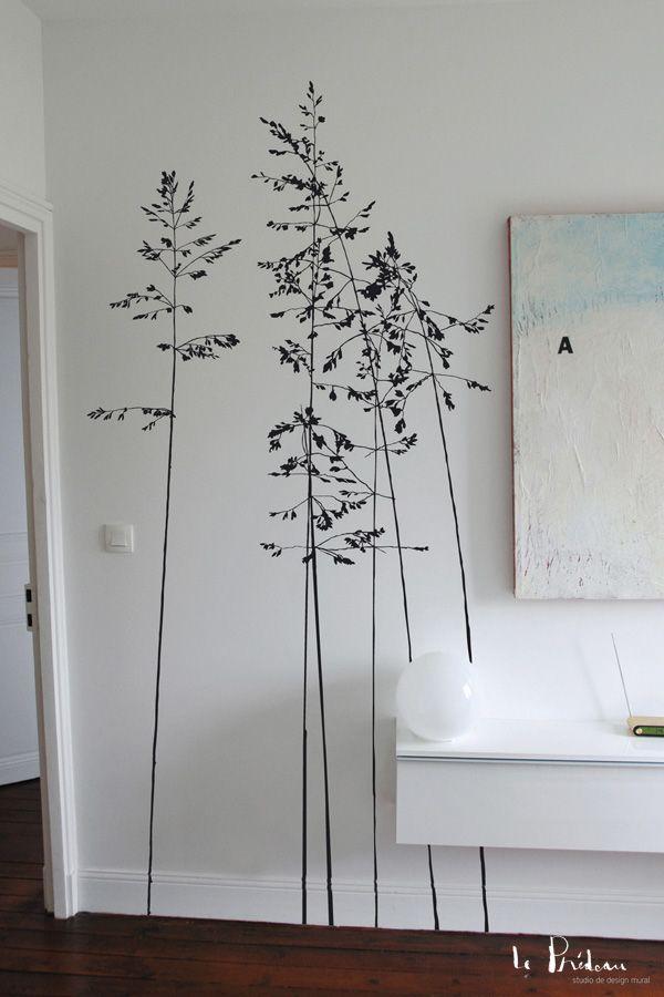 les d licates murmures et variations murals parement mural papier peint dessin mural. Black Bedroom Furniture Sets. Home Design Ideas