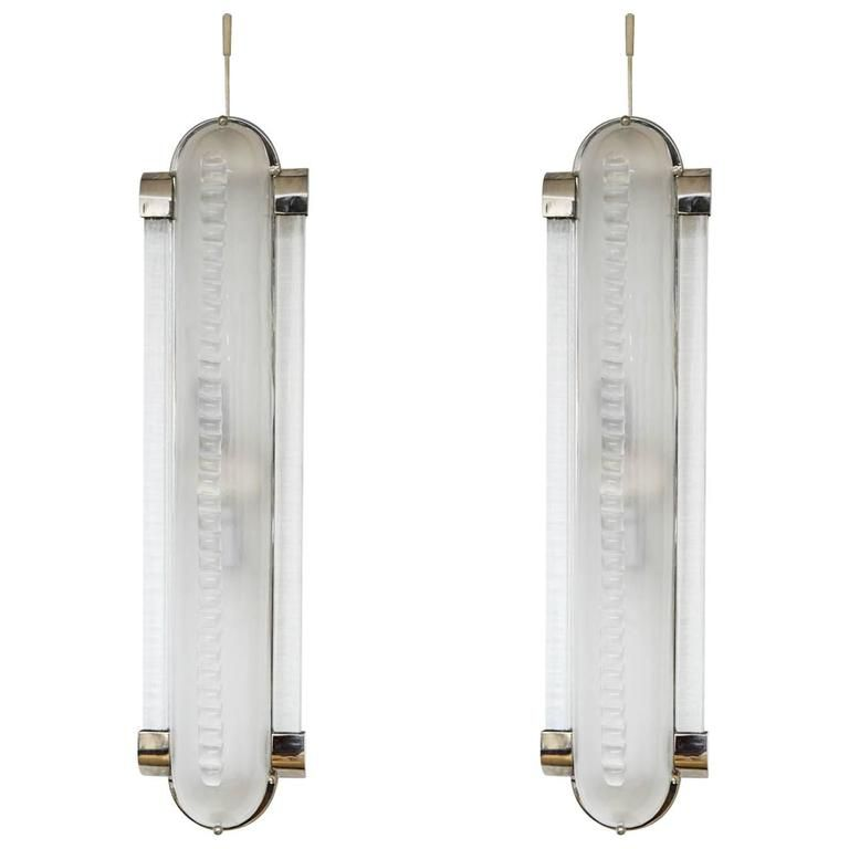 Italian Art Deco Style Pair Of Sconces In Murano Glass Italian Art Art Deco Fashion Murano Glass