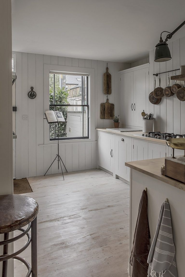 a calm and neutral kitchen that retains the character of its cottage rh pinterest com