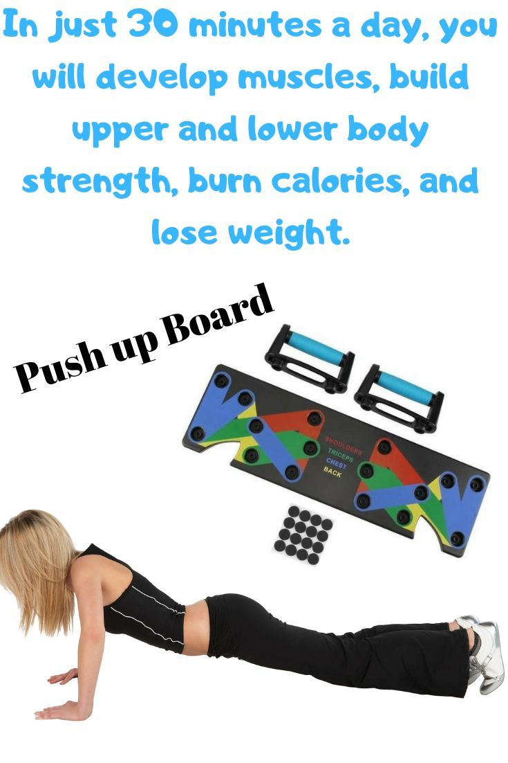 innovative color-coded pushup board training system that strengthens and shaping your entire upper b...