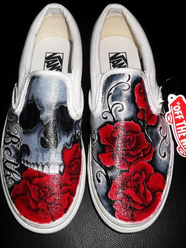 vans shoes skull
