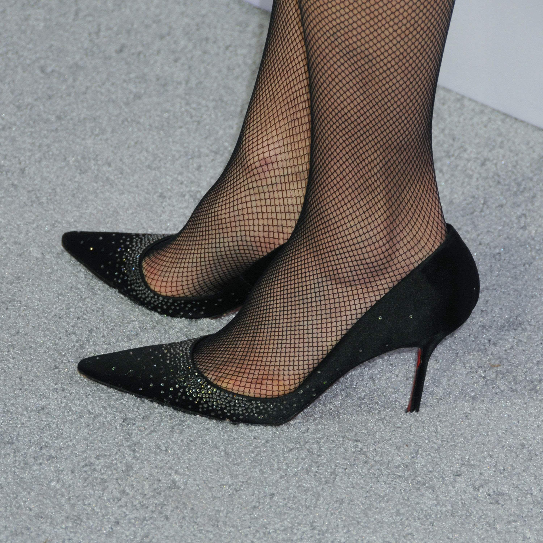 Andie Macdowell Tights And Heels Heels Fishnet Leggings