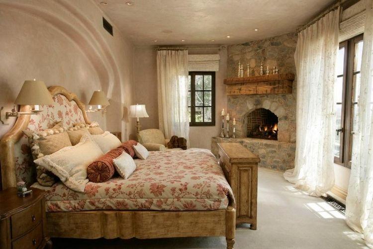 25 romantische Schlafzimmer Einrichtungen im Landhausstil Master - romantische schlafzimmer landhausstil