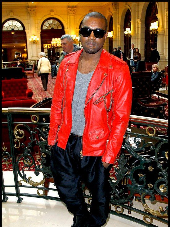 You Ll Never Go Wrong With Statement Red What Do You Think About This Loud Leather Jacket We Think Kanye West Lo Leather Jacket Red Leather Jacket Jackets