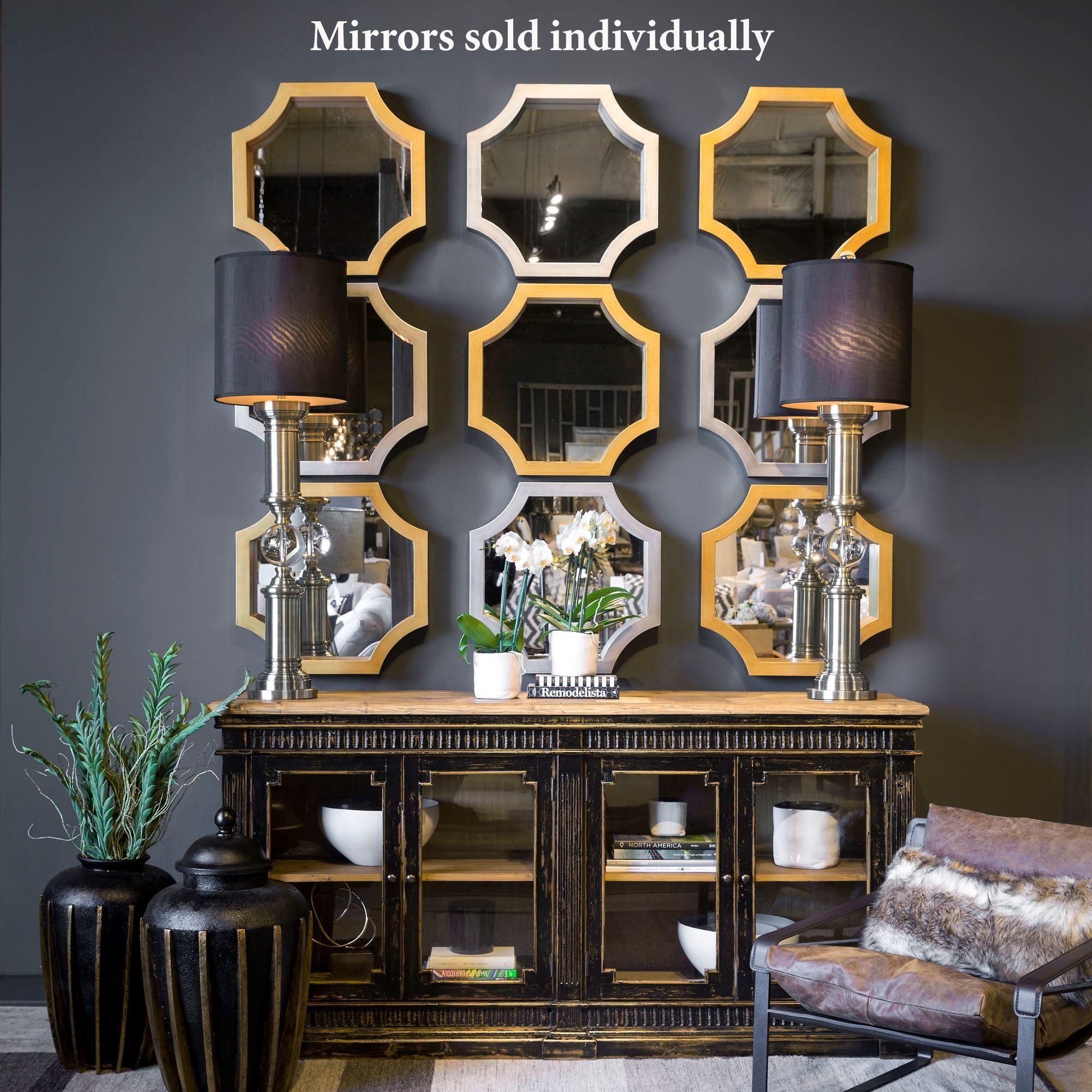 Mattingly Octagonal Accent Wall Mirror Perabot Rumah Interior Dan Mebel