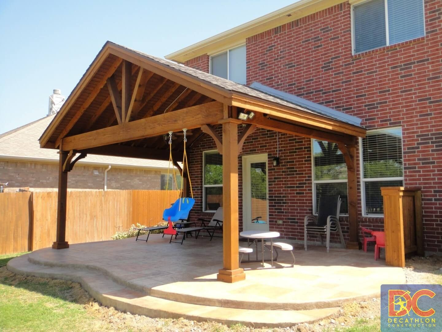 Full Gable Patio Covers Gallery Highest Quality Waterproof Patio Covers In Dallas Plano And Surrounding Texas Outdoor Covered Patio Pergola Pergola Designs