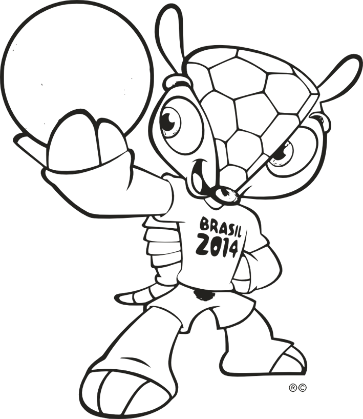 fifa 2014 coloring pages - photo#22