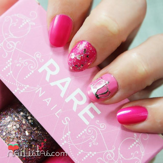 Uñas Decoradas Con Coronas Princess Nail Art Kit De Rare Nails
