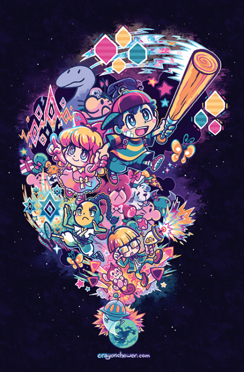 Mother 2/ Earthbound by Blank Party on Tumblr if you see