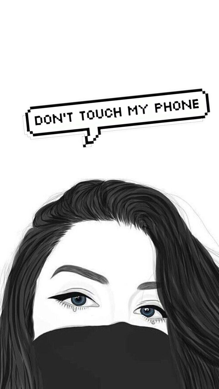 Don T Touch My Phone Latar Belakang Gambar Mode Pemandangan Abstrak