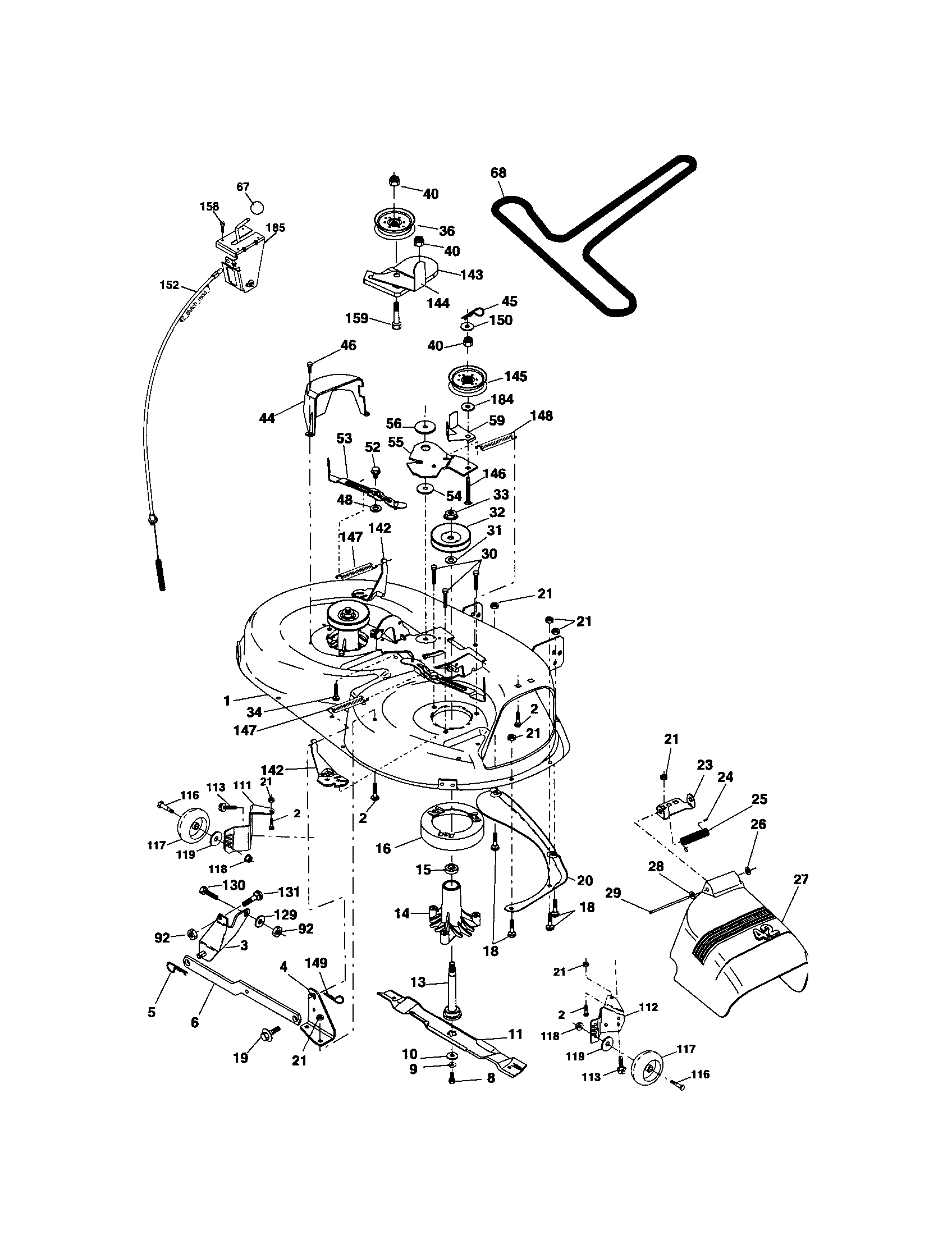 MOWER DECK Diagram & Parts List for Model 917275810