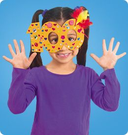 Free printable template for 100th Day Celebration Masks to decorate