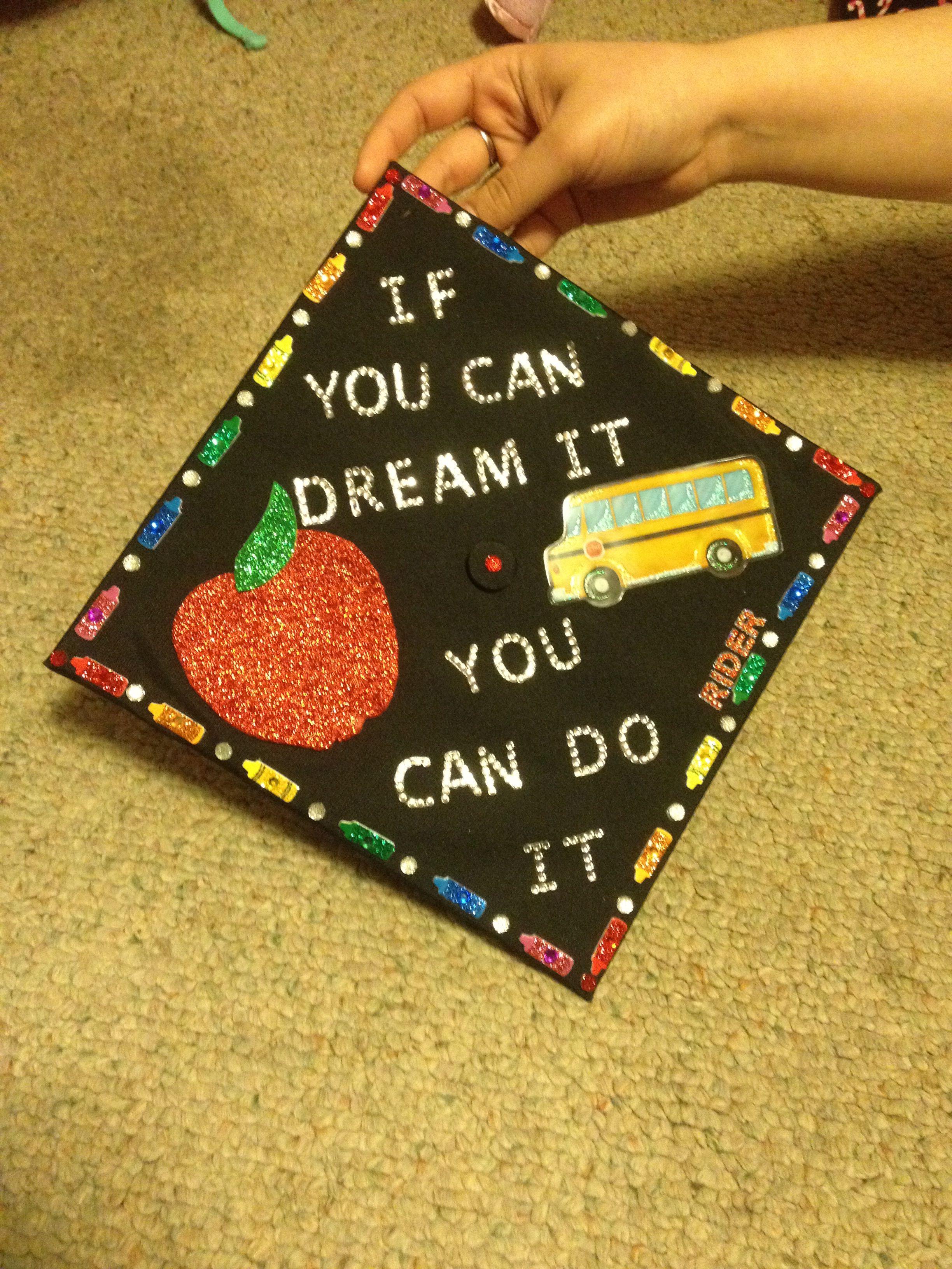 Graduation Cap Education Major Education Major Teacher Graduation Cap Education Graduation Cap