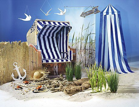 Idea decorativa de silla de playa vitrinismo Pinterest Sillas - sillas de playa