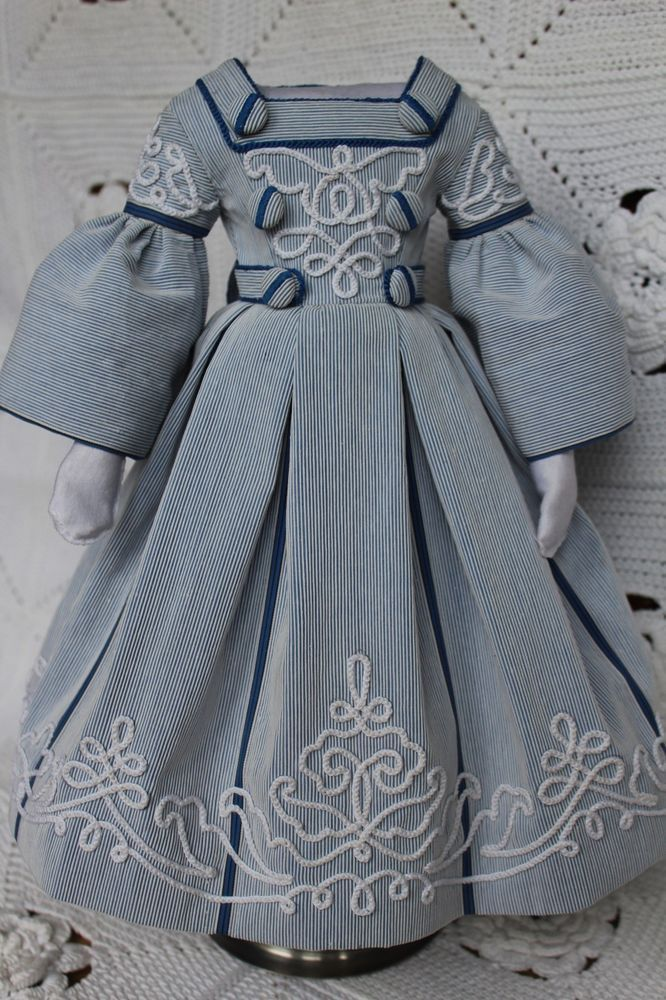 Particulars about ANTIQUE FASHION DOLL DRESS 1800'S, EXQUISITE, FOR FRENCH OR GERMAN 18 - #1800S #Antique #details #Doll #Dress #Exquisite #fashion #french #German #dolldresspatterns