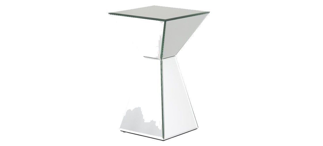 Mirrored Pyramid Living Room Accent Side End Table Best Wall Colours For Small Rooms Bedding