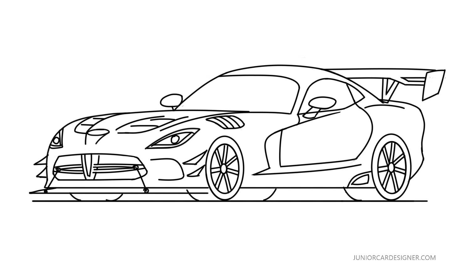 How To Draw A Dodge Viper Acr