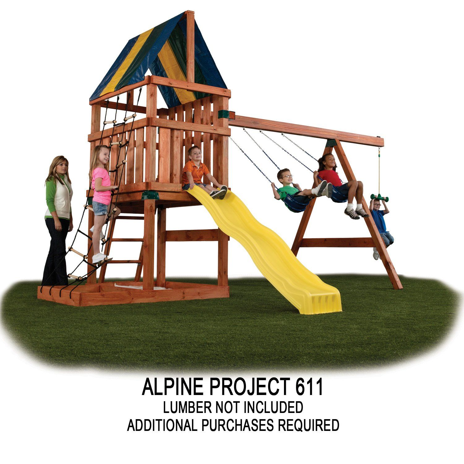 Amazon Com Alpine Custom Swing Set Hardware Kit Toys Games Kid